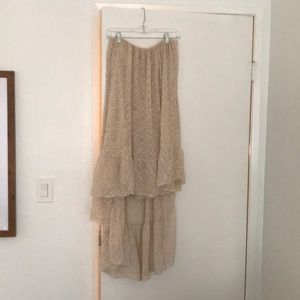 Free People high low maxi skirt